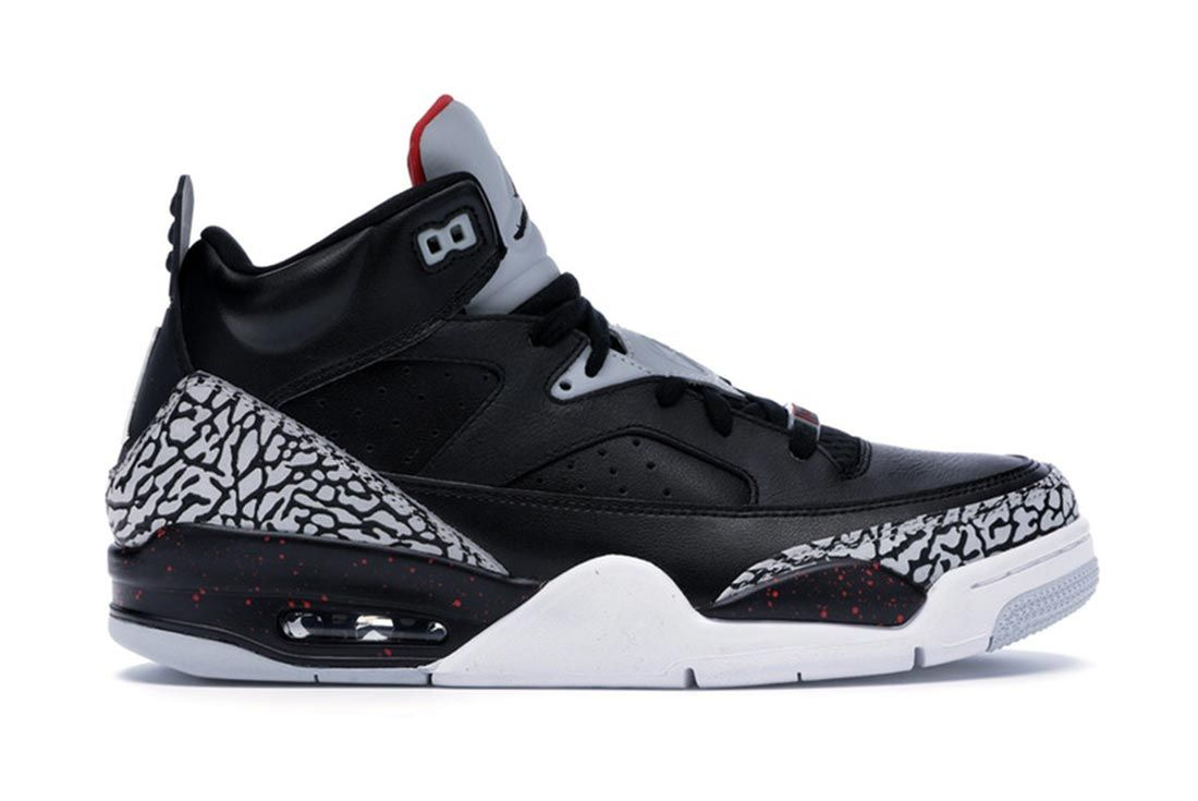 Jordan Son Of Mars Low Black Cement Lateral Side Shot