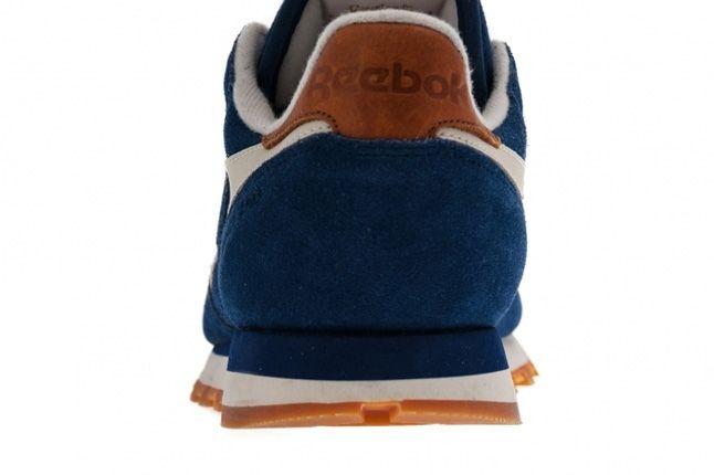 Reebok Classic Leather Suede Blue Heel Detail 1