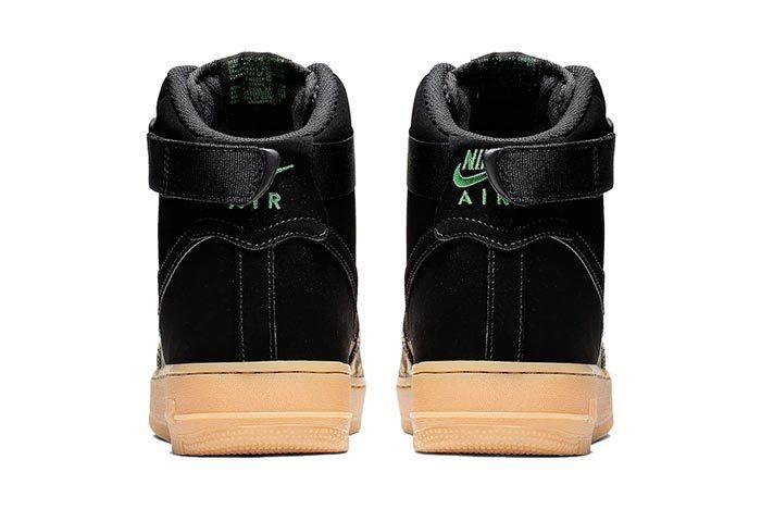 Realtree Black Nike Air Force 1 Heel