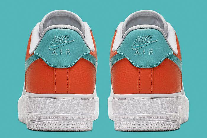 Nike Air Force 1 White Aqua Clay Aa0287 106 Heels