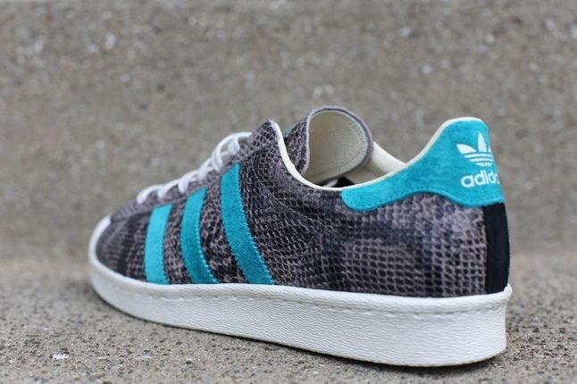 Adidas Superstar 80S Grey Turquoise Heel Profile 1