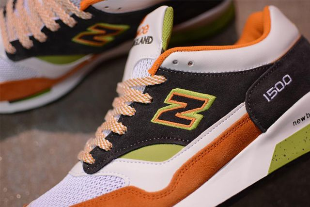 New Balance M1500 Whiteorangegreen 2