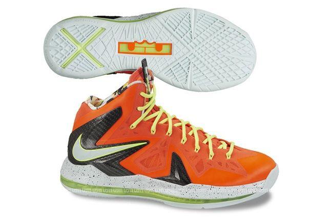 Nike Lebron X Elite Total Crimson Fiberglass Profile 1