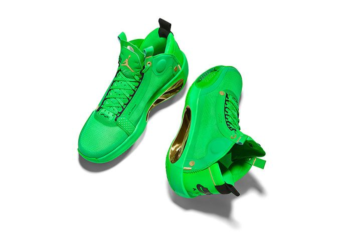 Air Jordan 34 Pe Green Close High