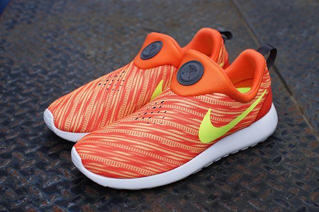 Nike Roshe Run Slip On Electric Orange Atomic Mango 3