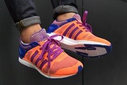 Adidas Primeknit Feather Womens Flash Orange Thumb