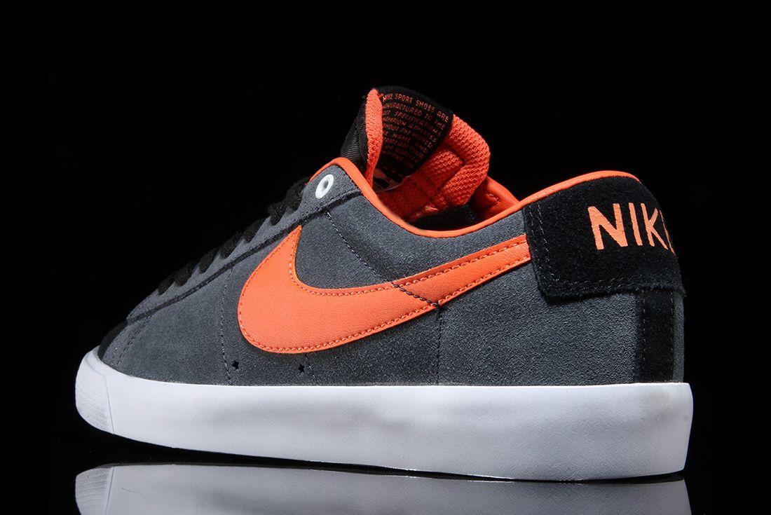 Nike Sb Blazer Low Gt Anthracite Turf Orange 2