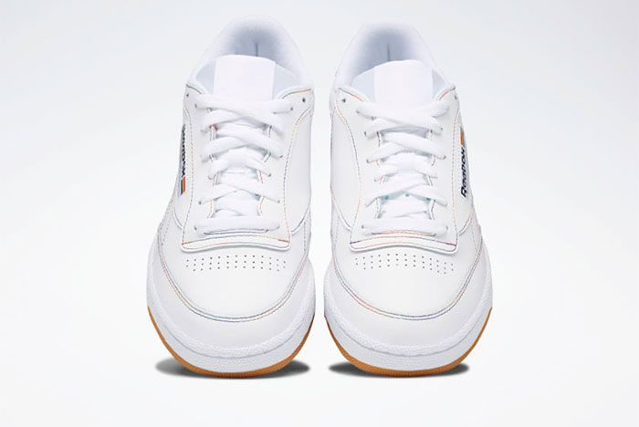 Reebok Pride Pack White Club C Front Side View Where To Buy