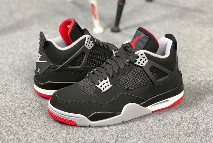 Air Jordan 4 Bred Pair Side Shot1