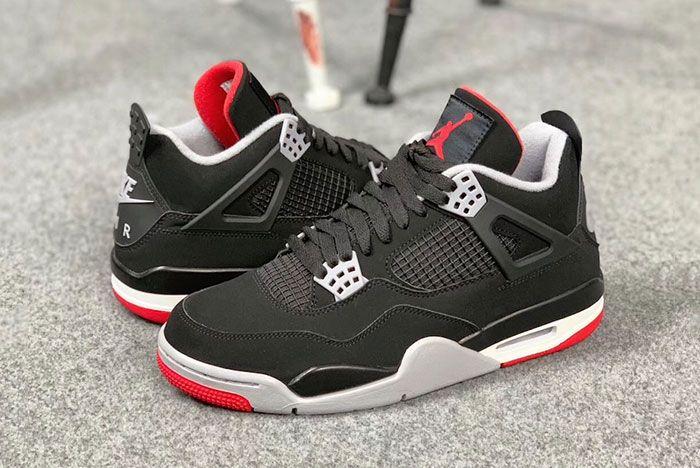 Air Jordan 4 Bred Pair Side Shot1