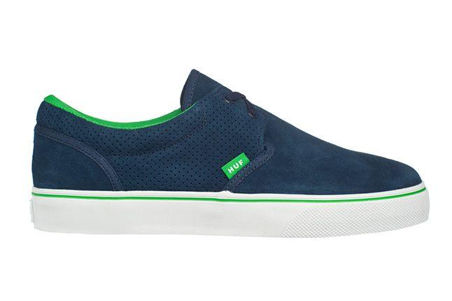 Huf Footwear Genuine Navy Lime Single 1