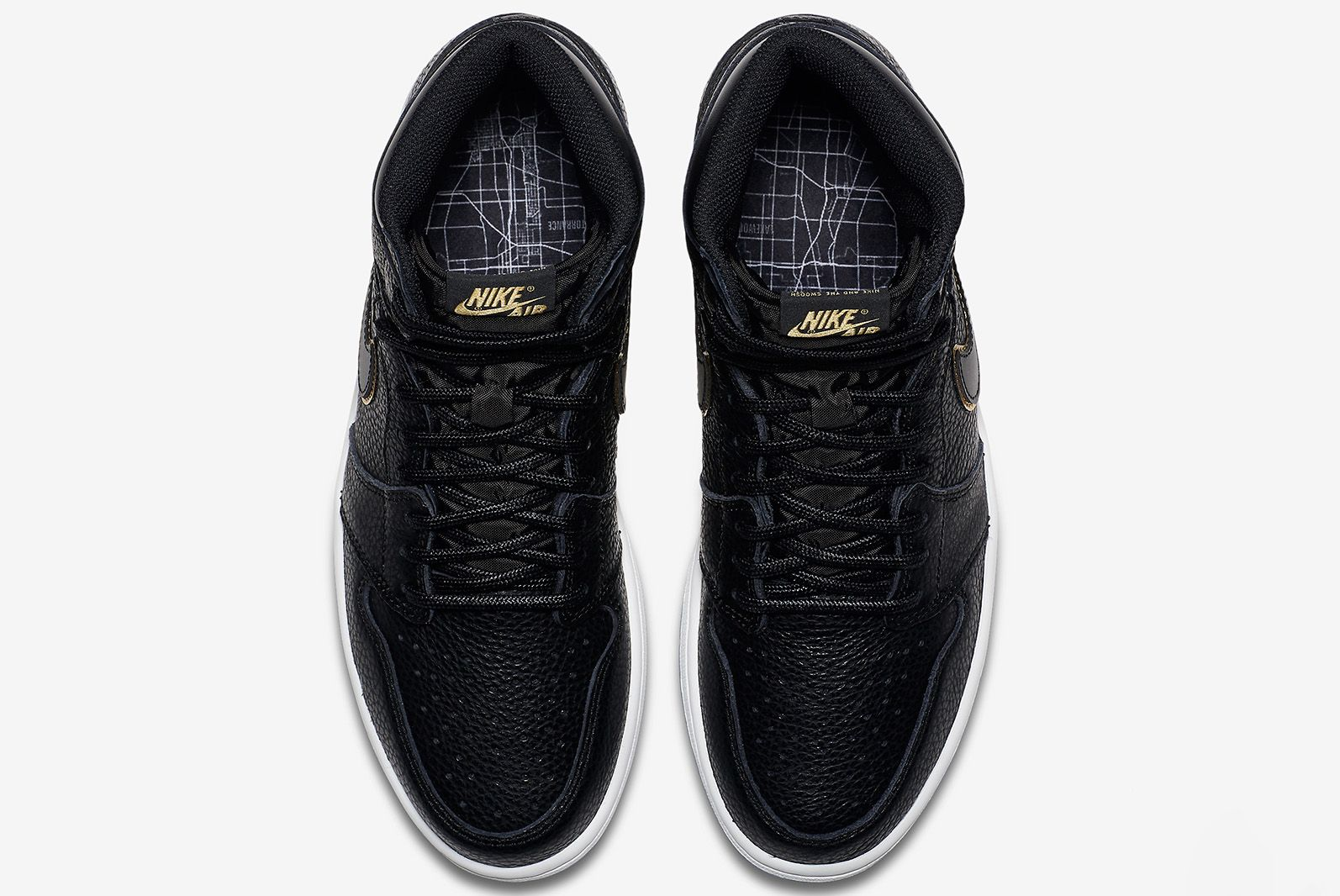 Air Jordan 1 Tumbled Leather Blackgold 6