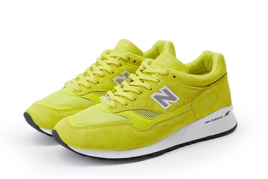 Pop New Balance 1500 Electric Yellow Pair Side