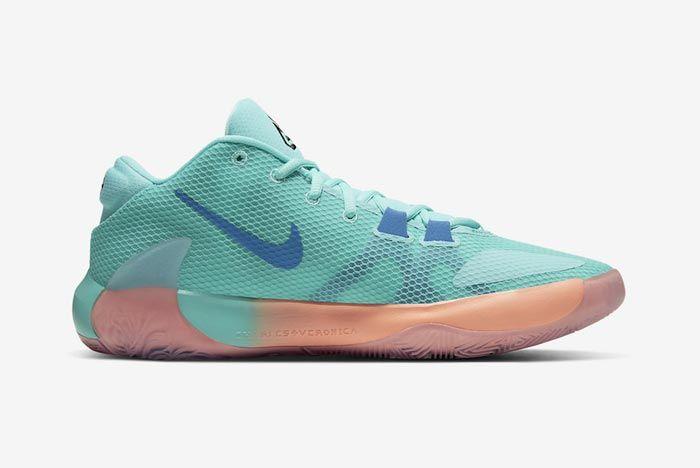 Nike Zoom Freak 1 All Bros Turquoise Medial