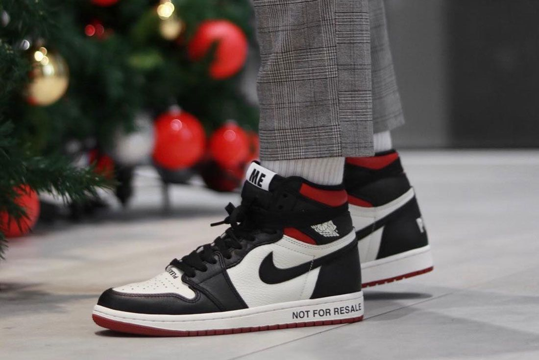 Not For Sale Air Jordan 1 Side Shot On Foot