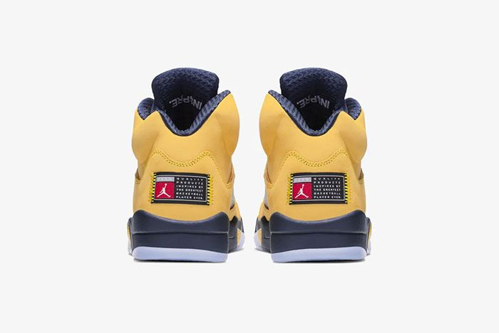 Air Jordan 5 Michigan Heel