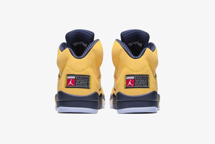 Air Jordan 5 Michigan Heel