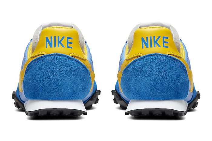 Nike Waffle Racer University Blue Battle Blue Black Amarillo Cn5449 400 Release Date Heel