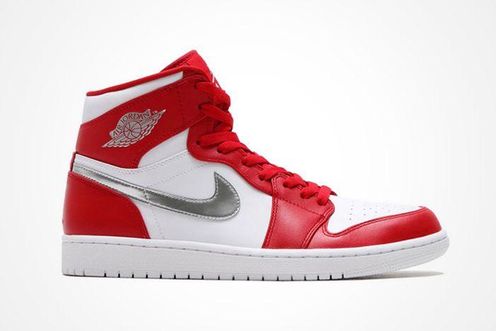Air Jordan 1 High Redsilverwhite