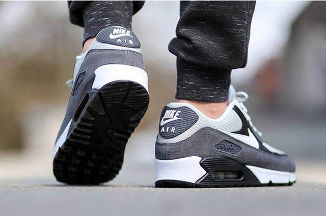 Nike Air Max 90 Essential Grey Mist White Black Dark Grey 3