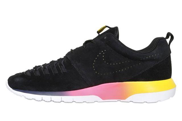 Nike Roshe Run Nm Woven Black Suede Rainbow Sole 4