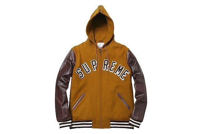 Brown Hooded Varsity Jacket 1 1