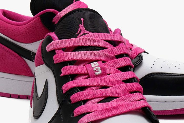 Air Jordan 1 Low Active Fuchsia Laces