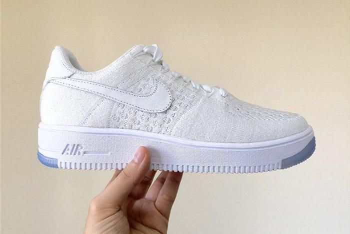 Nike Air Force 1 Flyknit White White Ice 1