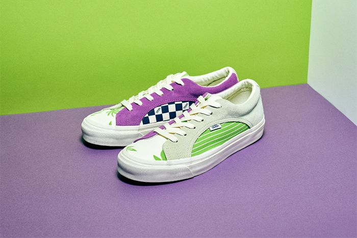 Billys Vans Vault Og Lampin Lx White Green Purple October 2019 Release Date Pair