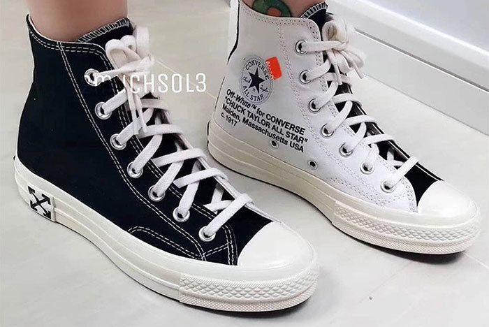 Off White Converse Chuck Taylor White Black