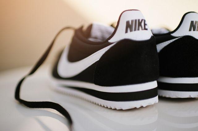 Nike Cortez Nylon Black White 3