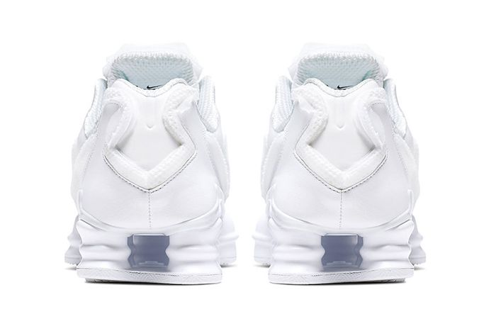 Comme Des Garcons Nike Shox Tl White Cj0546 100 Release Date Heel