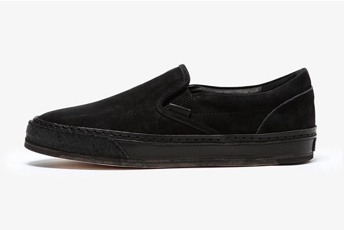 Hender Scheme Vans Slip On Black Left Shot