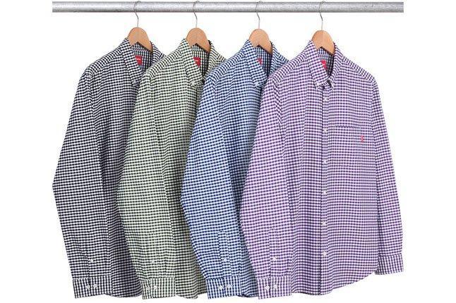 Supreme Gingham Oxford Shirt 1