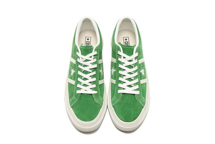 Converse Star And Bars Suede Green 2