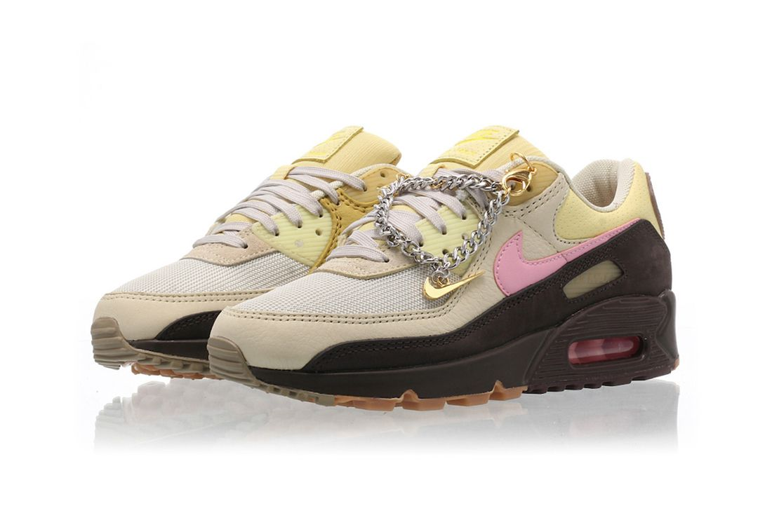 Nike Air Max 90 Velvet Brown Angled