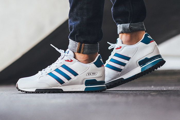 Adidas Zx 750 White Blue Red 1