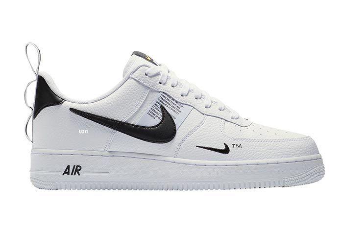 Nike Air Force 1 White Black Tag