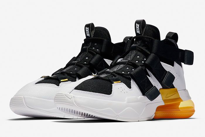 Nike Air Edge 270 Black White Gold Full