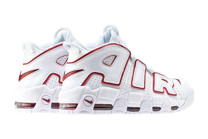 Nike Air More Uptempo 96 Whitevarsity Redwhite 2