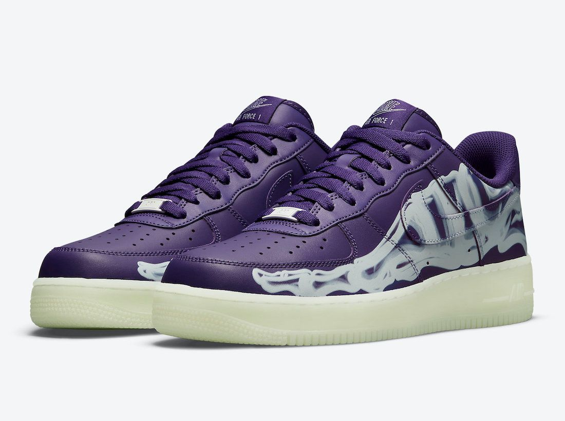 Nike Air Force 1 Purple Skeleton