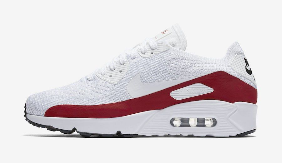 Nike Air Max 90 Ultra 2 0 Flyknit White Red 875943 102
