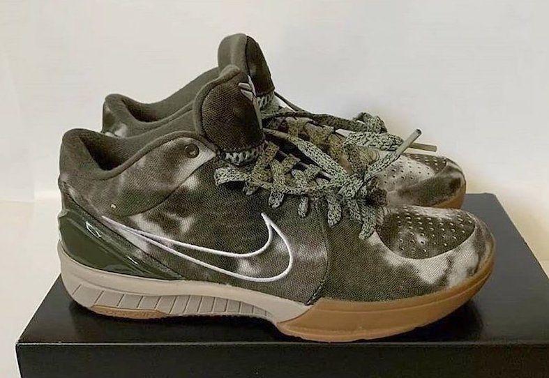 UNDEFEATED Nike Kobe 4 Protro Olive Tye-Dye