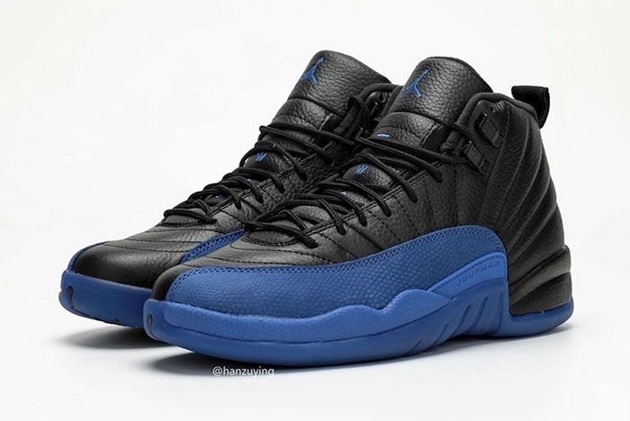 Air Jordan 12 Black Game Royal 130690 014 2019 Release Date 3 Pair