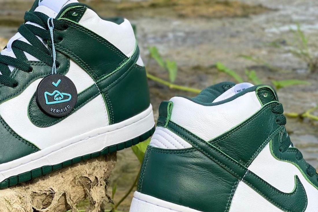 Nike Dunk High Pro Green Heel