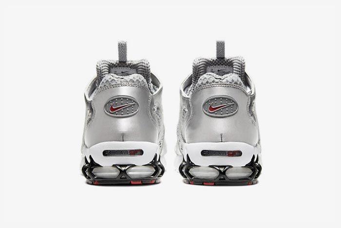 Nike Air Zoom Spiridon Caged Metallic Silver Heels