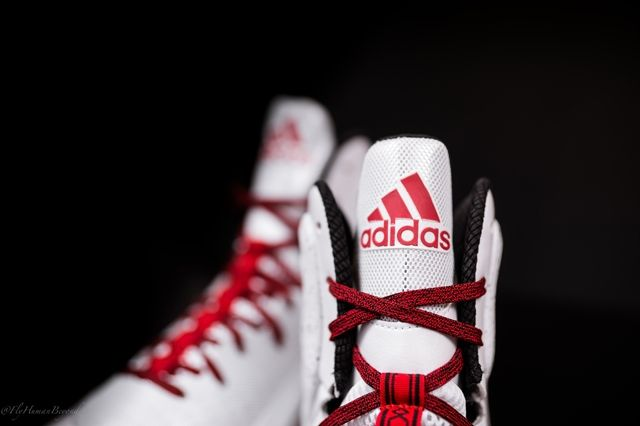 Adidas D Rose 5 Boost White Red 6