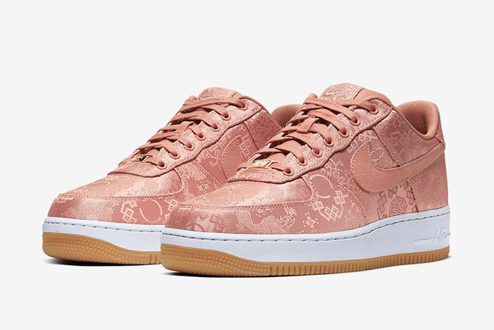 Clot Nike Air Force 1 Rose Gold Cj5290 600 Front Angle