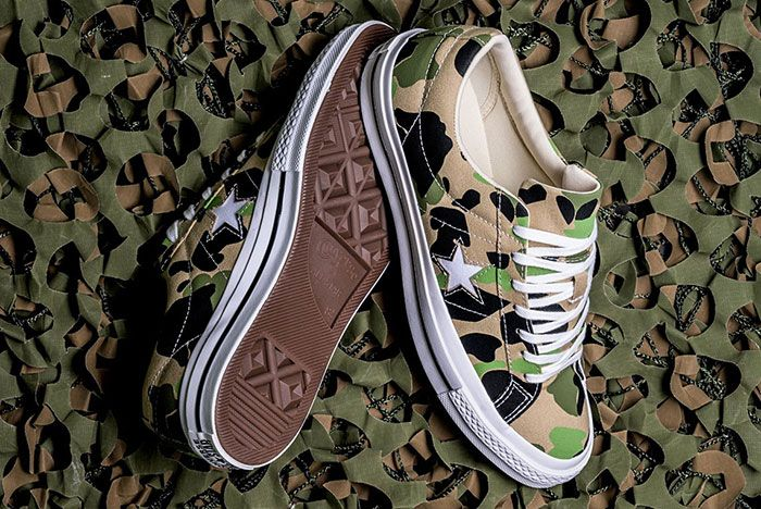 Converse One Star Duck Camo 2 Pair Sole