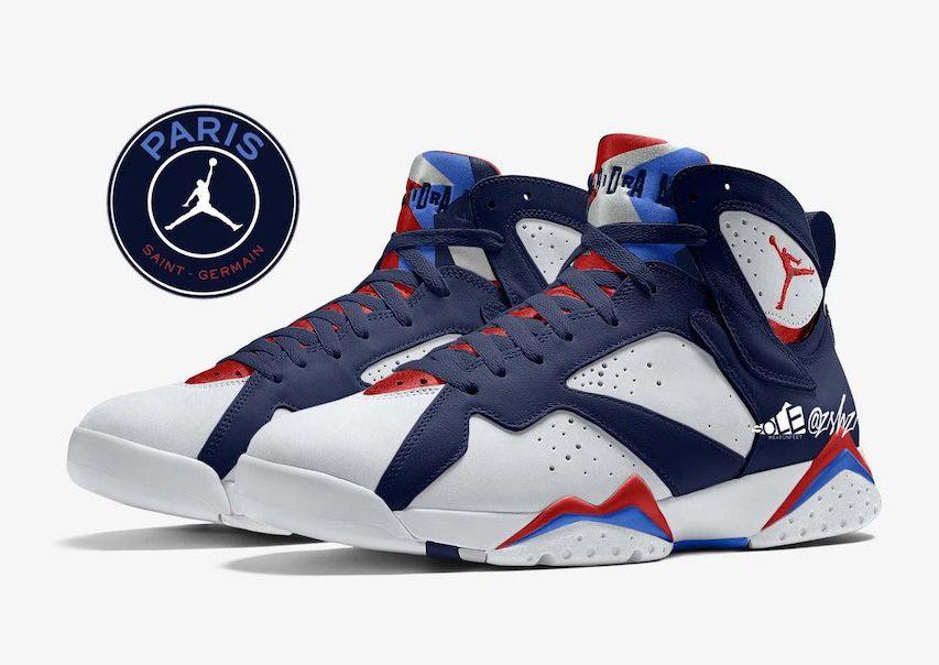 Paris Saint-Germain x Air Jordan 7 'PSG' Slated for 2021 - Sneaker ...